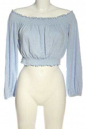 H&M Divided Carmen-Bluse blau Casual-Look