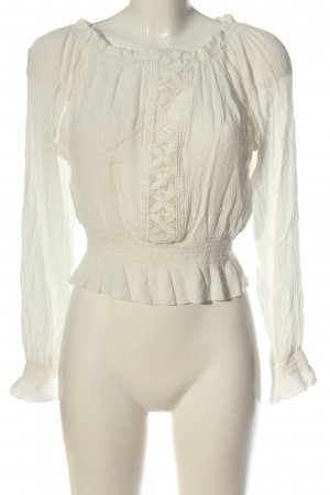 H&M Divided Blusa tipo Carmen blanco look casual