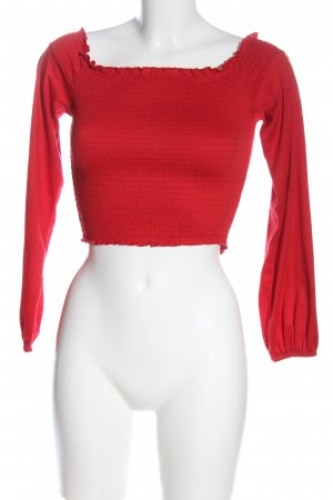 H&M Divided Carmen-Bluse rot Casual-Look