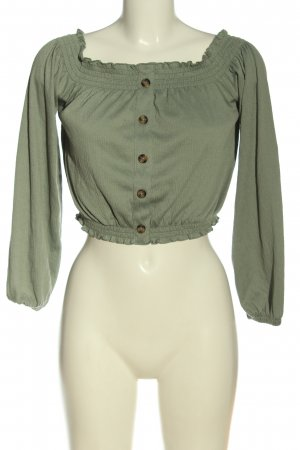 H&M Divided Carmen blouse khaki casual uitstraling
