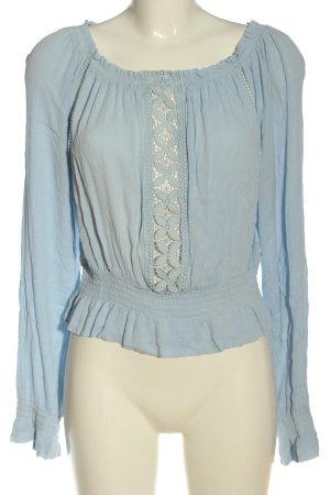 H&M Divided Carmen-Bluse blau Casual-Look