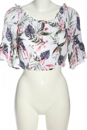 H&M Divided Carmen-Bluse Allover-Druck Casual-Look