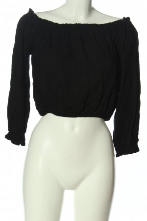 H&M Divided Blusa tipo Carmen negro look casual