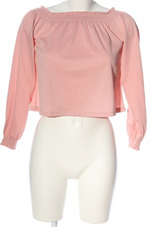 H&M Divided Carmen-Bluse pink Casual-Look