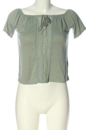 H&M Divided Carmen-Bluse khaki Casual-Look