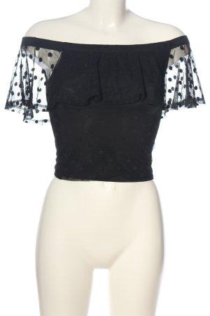 H&M Divided Carmen Blouse black elegant