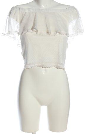 H&M Divided Carmen Blouse white elegant