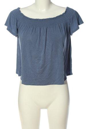 H&M Divided Carmen Shirt blue casual look