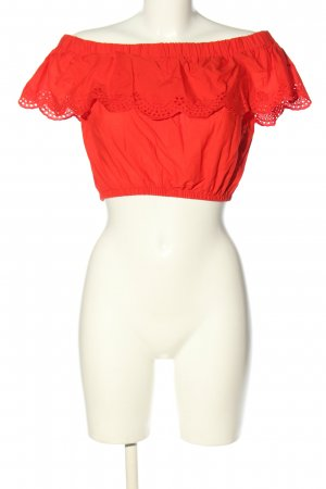 H&M Divided Carmen shirt rood casual uitstraling