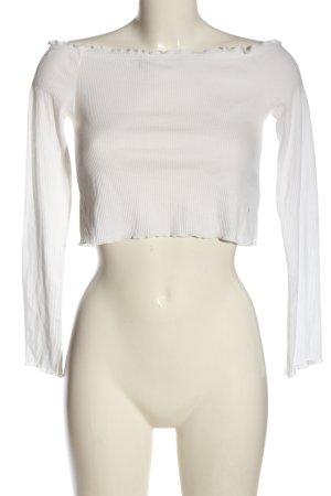 H&M Divided Top épaules dénudées blanc style décontracté