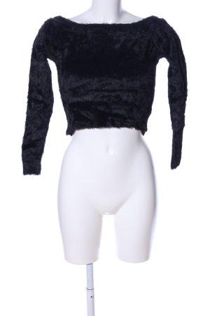 H&M Divided Carmenshirt schwarz Casual-Look
