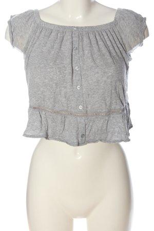 H&M Divided Koszula typu carmen jasnoszary Melanżowy W stylu casual