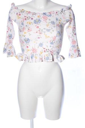 H&M Divided Carmen Shirt flower pattern elegant