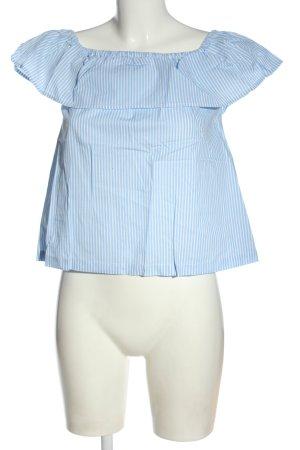 H&M Divided Koszula typu carmen niebieski-biały Na całej powierzchni