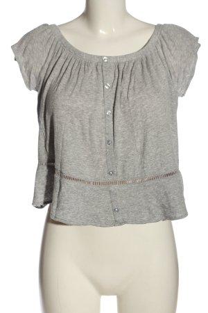 H&M Divided Carmenshirt hellgrau meliert Casual-Look