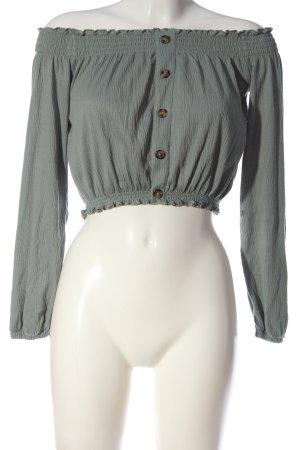 H&M Divided Top épaules dénudées gris clair style décontracté