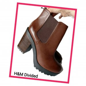 H&M Divided Chelsea Boots mit Plateau Gr. 41 - Neu