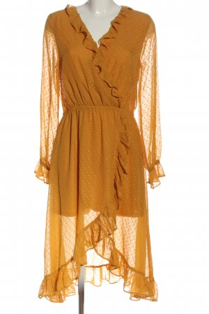 H&M Divided Robe chiffon orange clair élégant