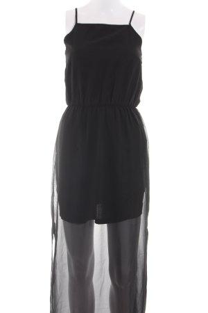 H&M Divided Chiffonkleid schwarz Elegant