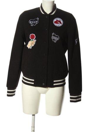 H&M Divided College jack zwart-wit gestreept patroon atletische stijl
