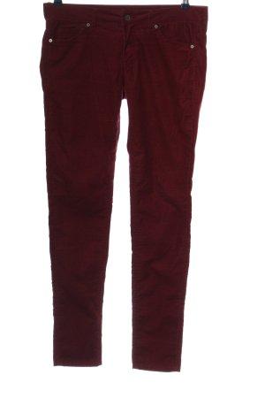 H&M Divided Corduroy broek rood casual uitstraling