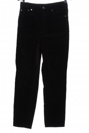 H&M Divided Corduroy Trousers black casual look