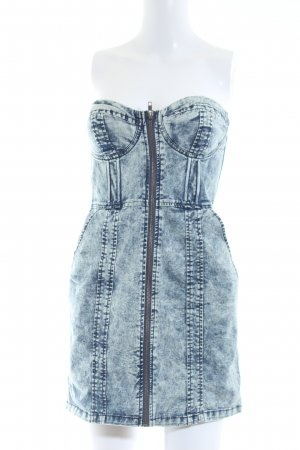 H&M Divided Vestido corsage azul look Street-Style