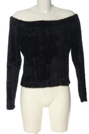 H&M Divided Cropped Pullover schwarz Casual-Look