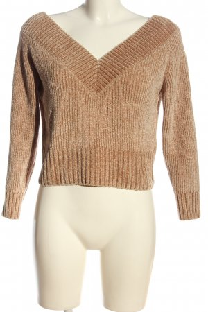 H&M Divided Cropped Pullover braun Casual-Look