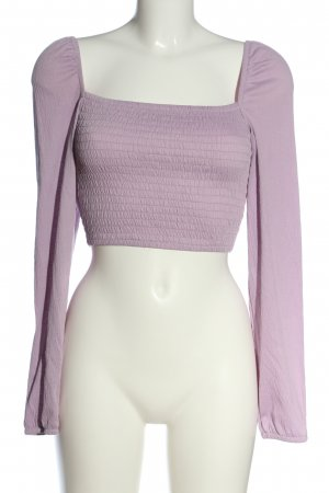 H&M Divided Cropped Shirt lila Casual-Look