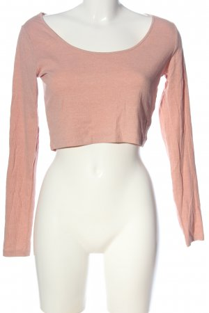 H&M Divided Cropped Shirt nude meliert Casual-Look