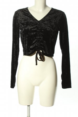 H&M Divided Cropped shirt zwart casual uitstraling