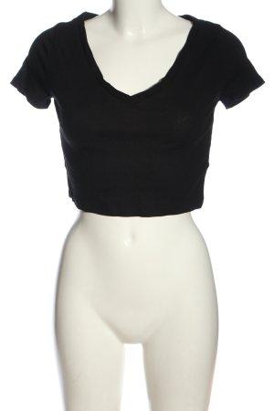 H&M Divided Camisa recortada negro look casual
