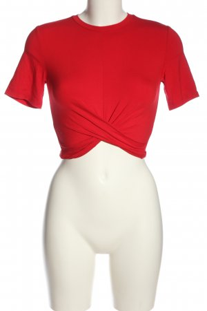 H&M Divided Cropped Shirt red casual look