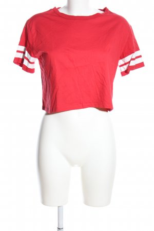 H&M Divided Cropped Shirt red-white casual look