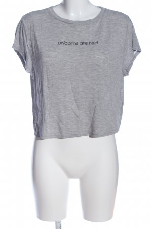 H&M Divided Cropped Shirt hellgrau meliert Casual-Look