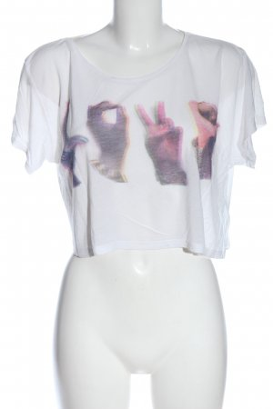 H&M Divided Cropped Shirt Motivdruck Casual-Look