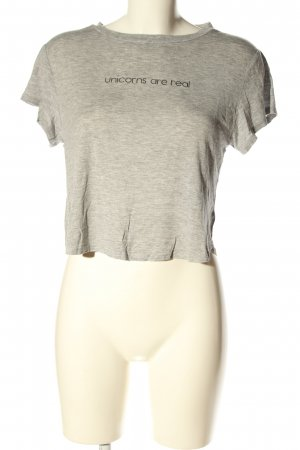 H&M Divided Cropped Shirt light grey flecked casual look