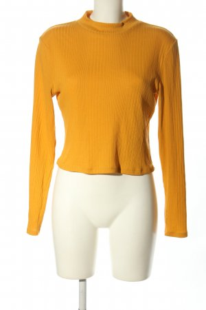 H&M Divided Cropped shirt licht Oranje casual uitstraling