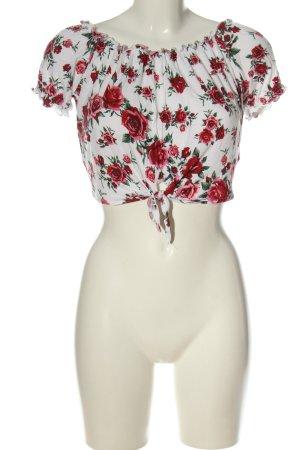 H&M Divided Camisa recortada estampado repetido sobre toda la superficie