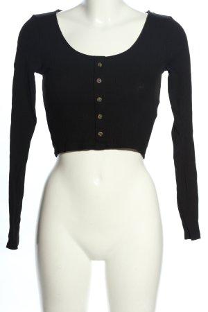 H&M Divided Camicia cropped nero stile casual