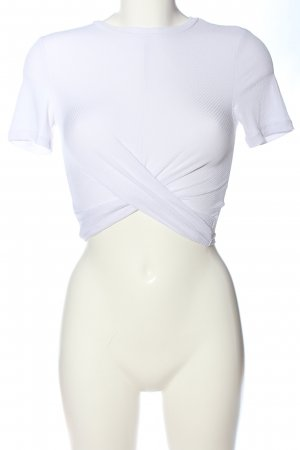 H&M Divided Cropped Shirt weiß Casual-Look