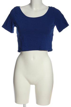H&M Divided Cropped Shirt blau Elegant