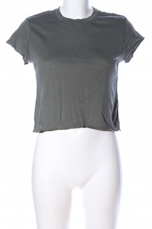 H&M Divided Cropped Shirt hellgrau meliert Casual-Look