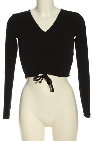 H&M Divided Cropped Shirt schwarz Elegant