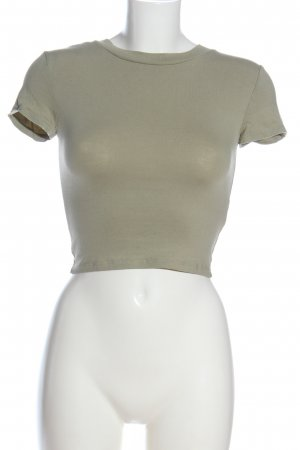 H&M Divided Cropped Shirt khaki meliert Casual-Look