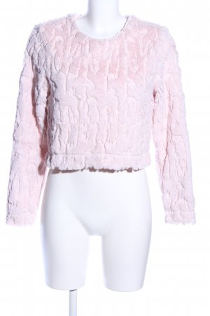H&M Divided Cropped shirt roze casual uitstraling