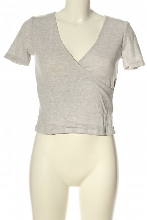 H&M Divided Cropped shirt lichtgrijs gestippeld casual uitstraling