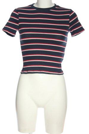 H&M Divided Cropped Shirt Streifenmuster Elegant