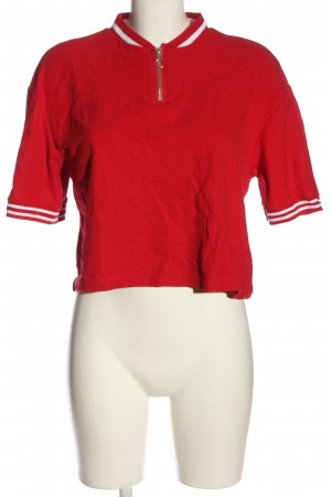 H&M Divided Cropped Shirt red striped pattern casual look